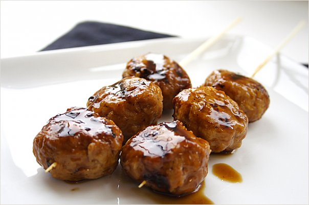 Grilled Chicken Meatballs