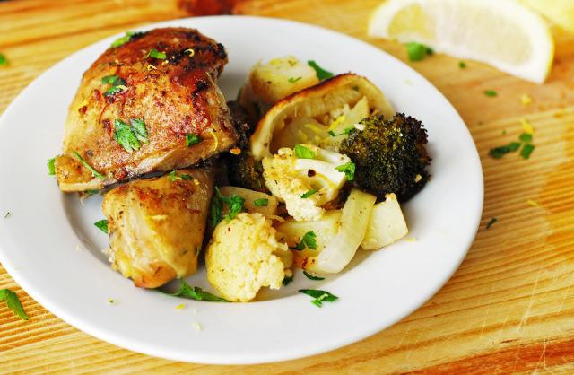 Lemon Chicken & Veggie Bake