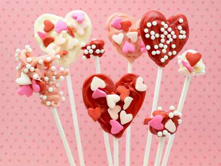 Candy Heart Pops