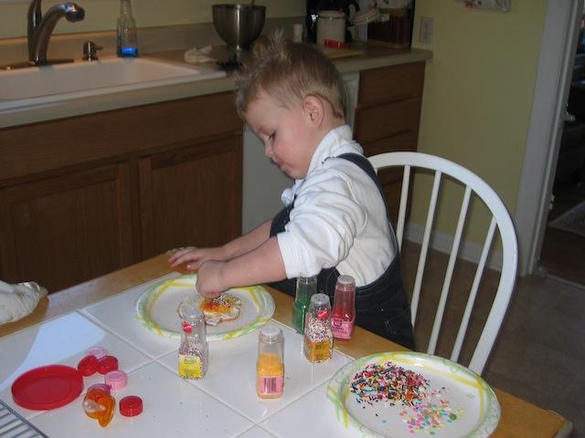 Jack Decorating Cookies 3