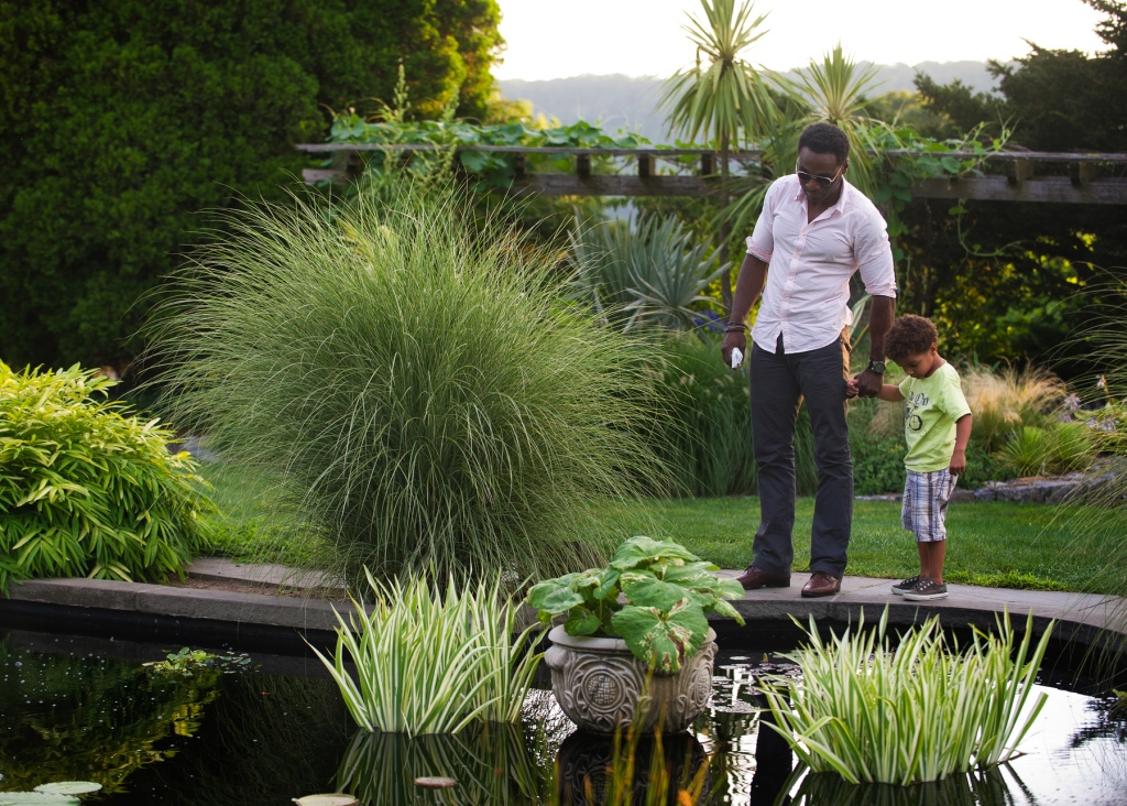 Father and Son at Wave Hill Aquatic Garden credit Joshua Bright