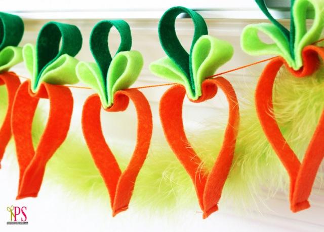 felt carrot garland