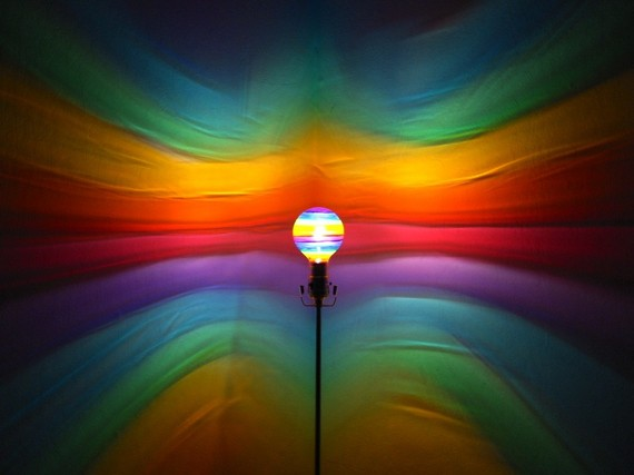 painted light bulb