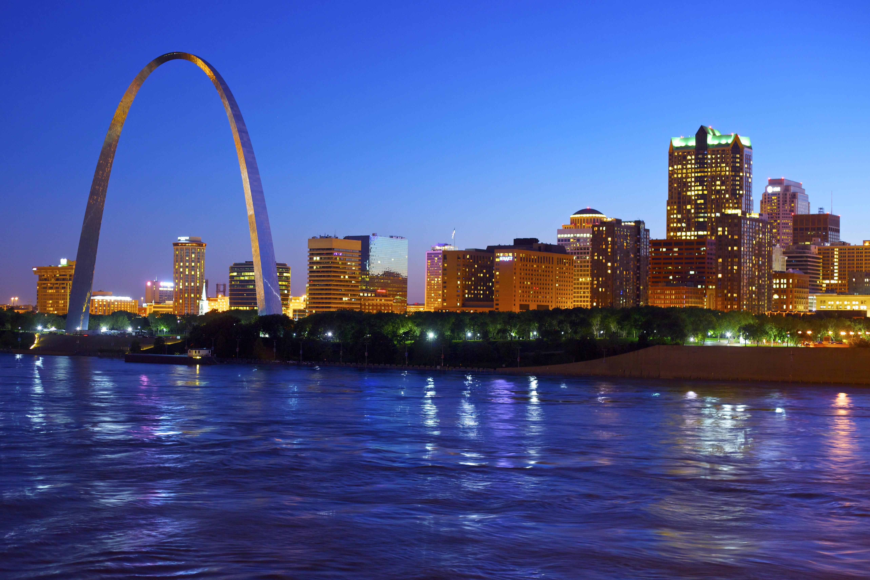 The Gateway Arch in St. Louis, Missouri on June 28, 2011.