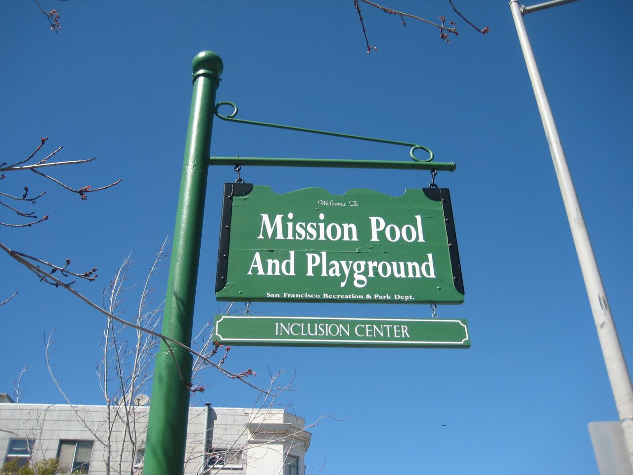 Mission Pool and Playground Sign