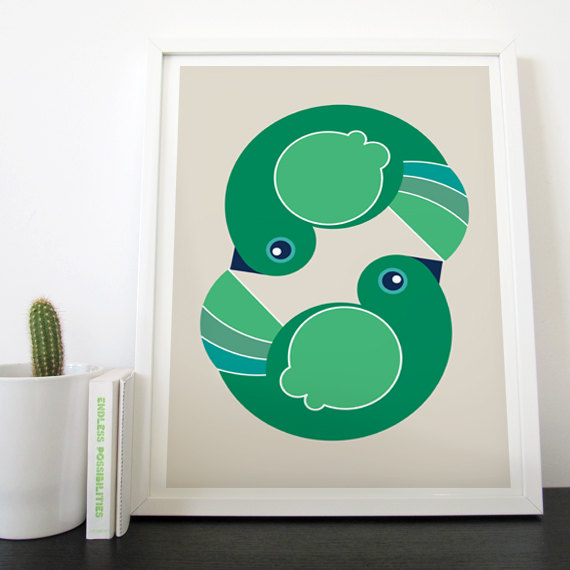 NATIONAL-Emerald-Green-Photos-Etsy-Love-Birds-Art