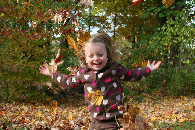toddler leaves