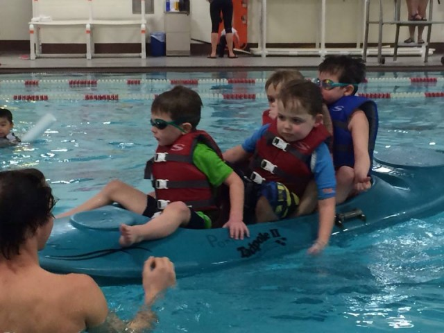 blake canoe swim lesson
