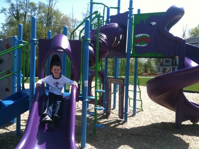 High Point Playground boy
