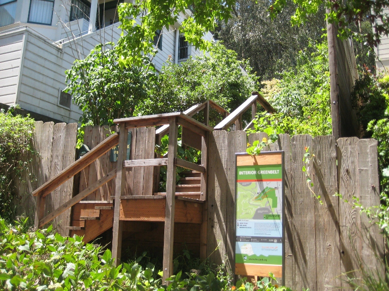 17th Street Stairs into Sutro Forest