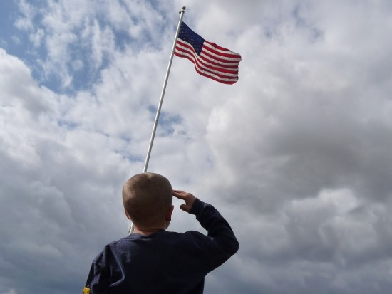 Boy Saluting Flag via Jeffrey Turner via Flickr