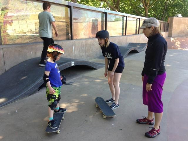 Teaching skateboarding