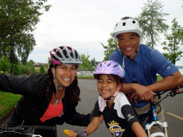 Bike riding family Obliteride