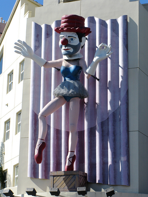 Ballerina Clown Statue