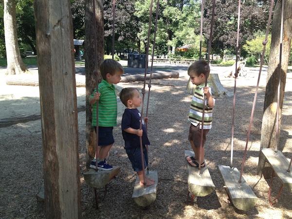 Blue lake natural play CT and J