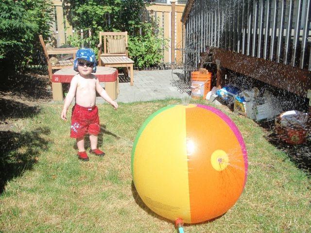 Sprinkler ball little boy