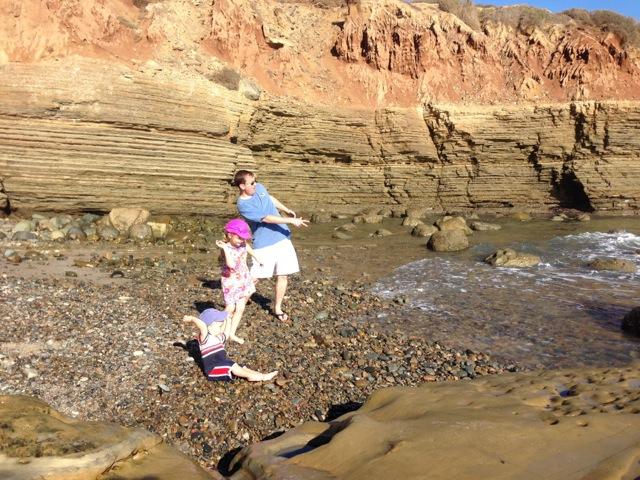 Cabrillo - tidepools stone skipping