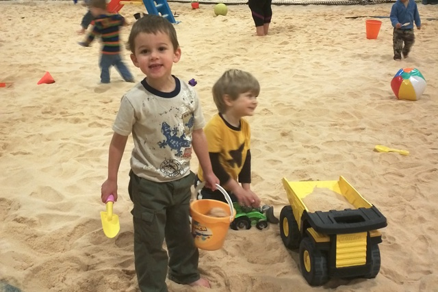 Sandbox Sports kids playing little diggers