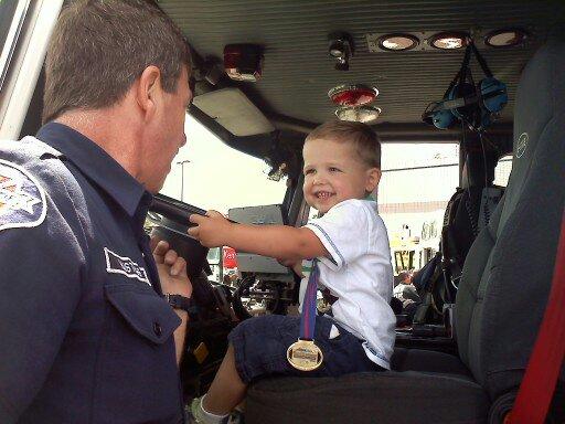 Blake in Fire truck