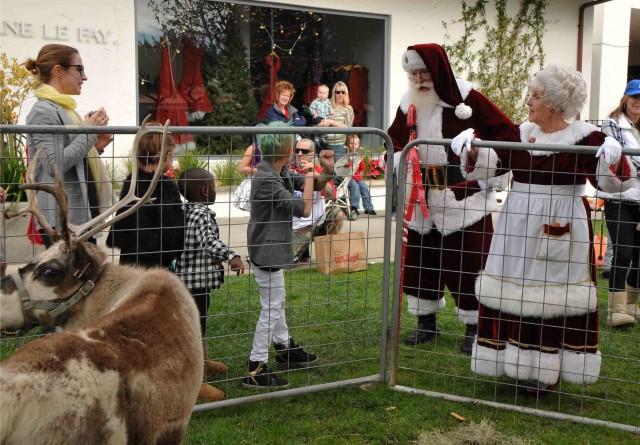 Malibu Country Mart Santa and Reindeer