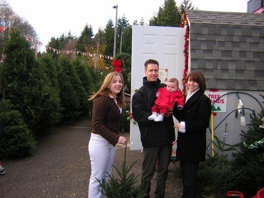 MJW family Christmas tree hunt