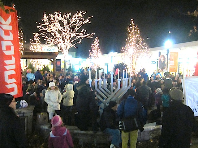 Menorah Lighting at Westfield Old Orchard