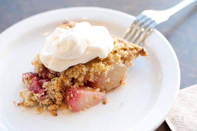 Rhubarb Pie slice