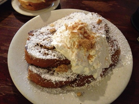 The Griddle Cafe Peanut Bubba French Toast via Hanie B on Yelp