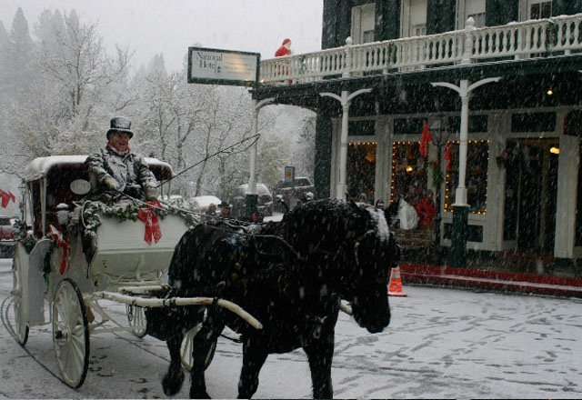 A Snowy Small Town Victorian Christmas Is Just A Car Ride Away