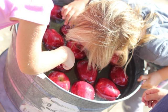 Carnival Game: Bobbing for Apples