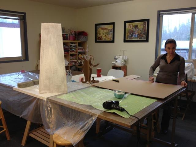 Cardboard Furniture making vase