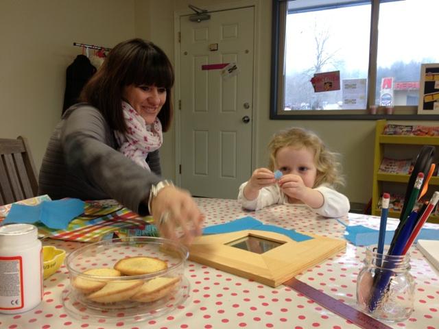 Elise and Celine craft at Art Maniac Studio