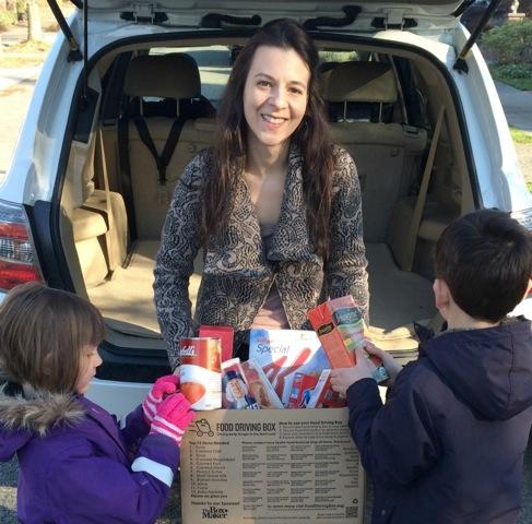 Food driving box Jennifer and kids