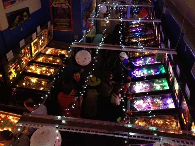 Seattle Pinball Museum overhead view