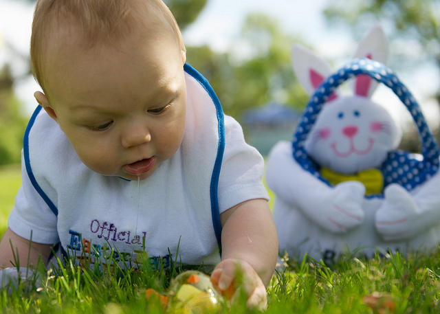 baby easter egg hunt