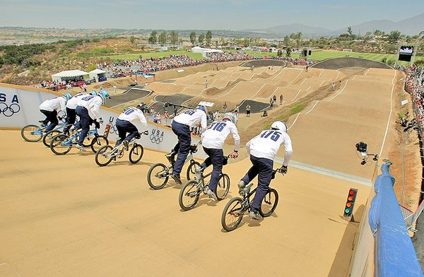 BMX competition at Chula Vista U.S. Olympic Training Center