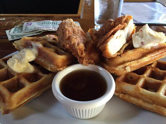chicken and waffles_via Dan. M Yelp