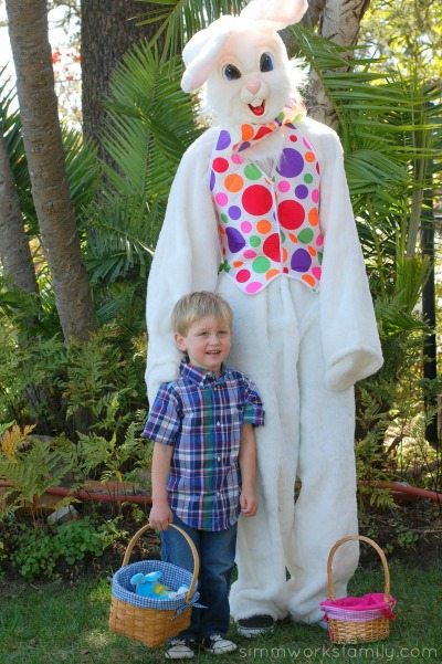 easter kid with bunny
