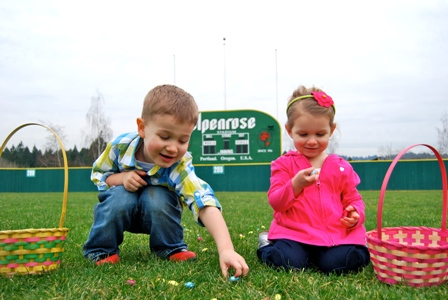 Alpenrose Dairy's 52nd Annual Easter Egg Hunt is back April 19th, the Saturday before Easter, with new start times. The day's excitement begins at 10:30 a.m. for kids ages 3 - 5 and 12:30 p.m. for ages 6 – 8. Chocolate eggs, stuffed animals and other fun treats will be hidden across the Alpenrose grounds. The world famous Easter Bunny will also be on site to meet all egg hunters. This free event is hosted by Alpenrose on the pastoral setting of the 98-year old dairy and has become a special tradition for families since 1962. Alpenrose officials are encouraging egg-hunters to arrive early since parking is limited. Alpenrose Dairy is located at 6149 SW Shattuck Road in Portland.