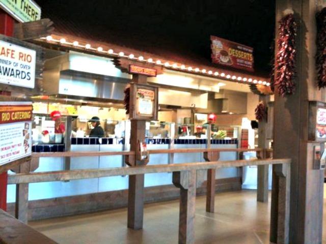 Inside Cafe Rio