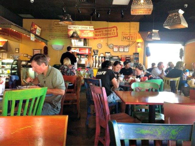 Inside Tables Cafe Rio