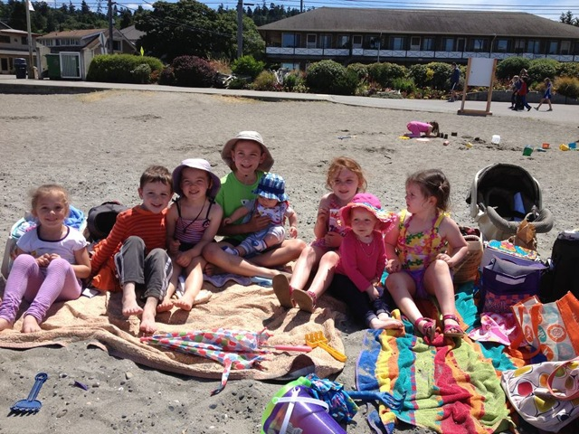 Group of kids at Alki Beach