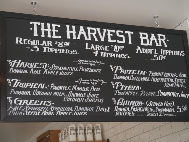 HarvestBarmenu