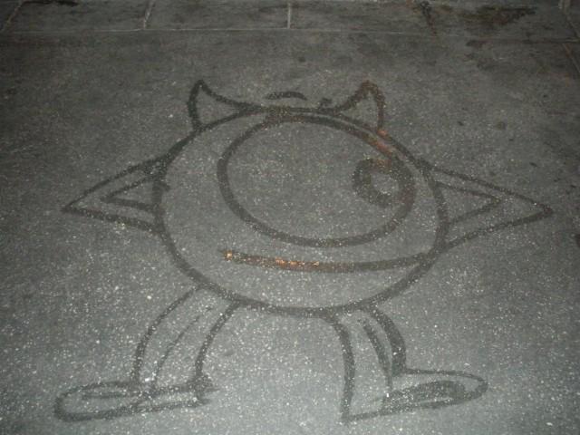 mike-monsters-disney-water-art
