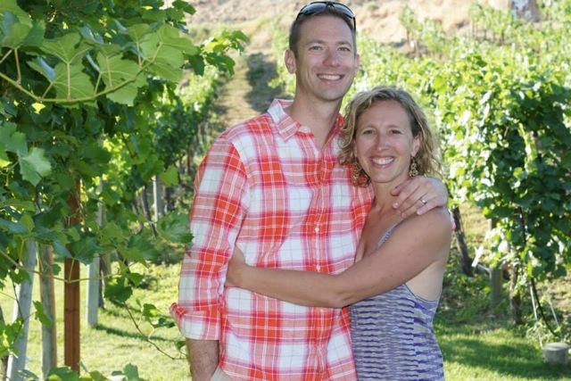 Parents in vineyard Kristen Preston credit