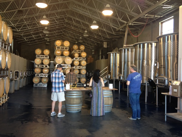 Inside the winery Walla Walla