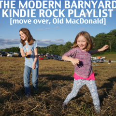 Modern farm and barnyard kindie rock songs for kids