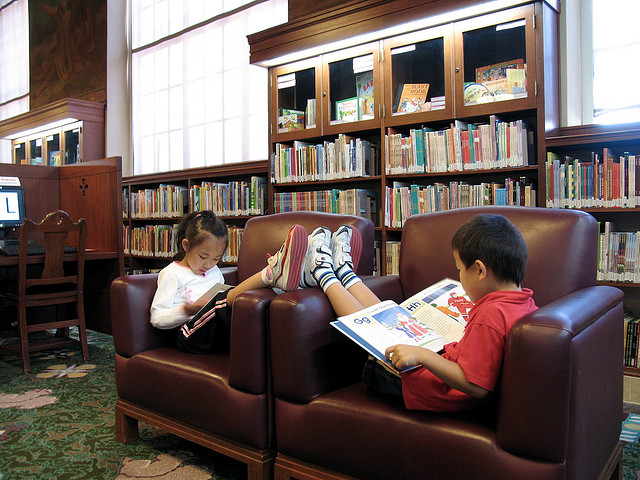Rest and read Los Angeles Public Library