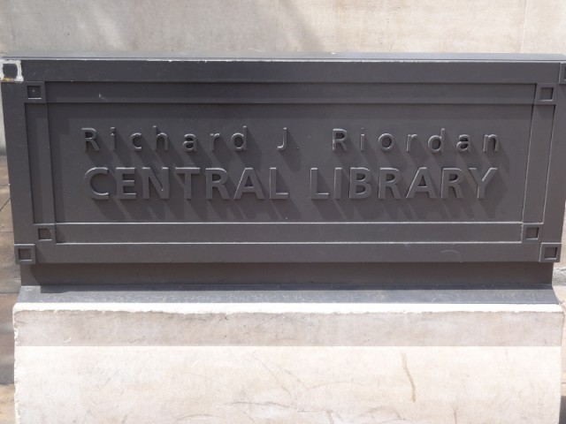 Library Name Plaque Los Angeles