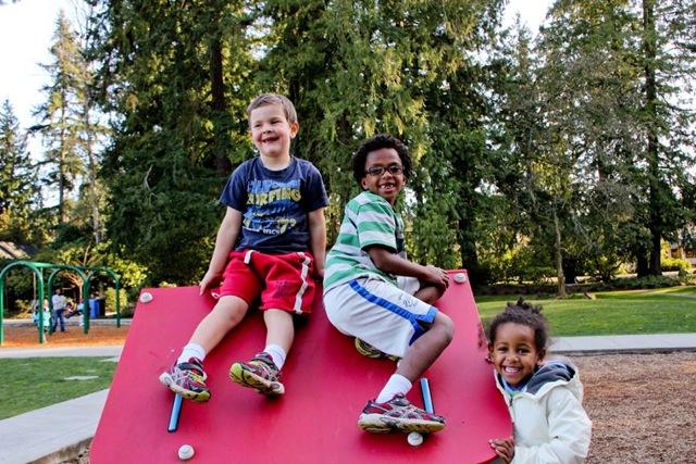 3 kids at playground